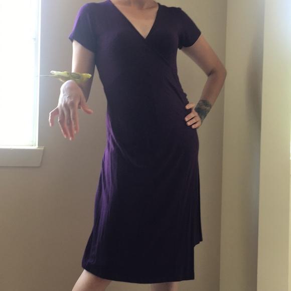 Bali Kiss Dresses & Skirts - ❤️Plain Purple Bali Kiss V-Neck  Casual Dress